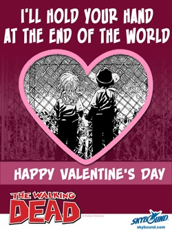 * The Walking Dead Valentine Card *