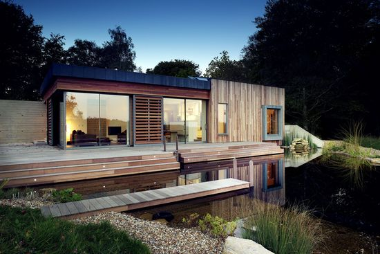 New Forest, Low Energy House by PAD Studio Ltd  #architecture #luxury #villa #lake #peacefull