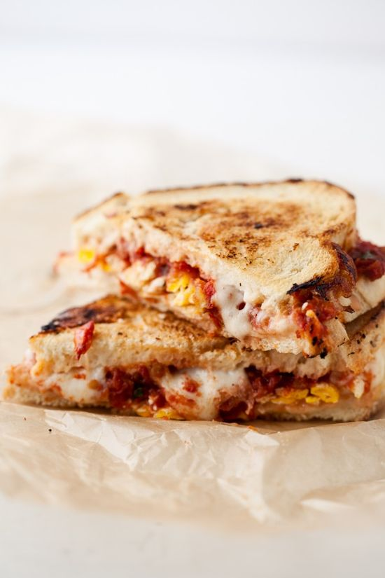 Roasted Tomato + Egg Grilled Cheese Sandwich