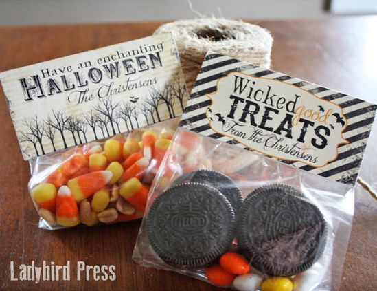 Personalized Halloween Treat Toppers, for 'Wicked Good Treats'!