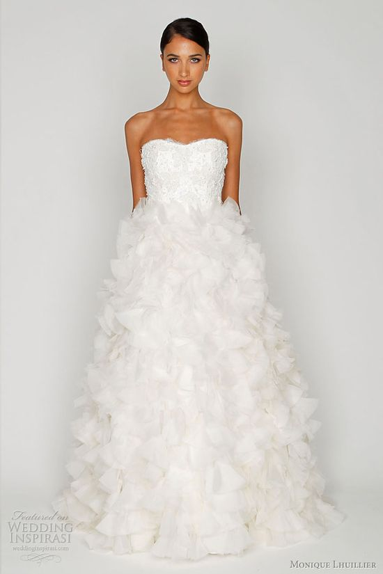 Bliss by Monique Lhuillier 2012 bridal gown collection #wedding