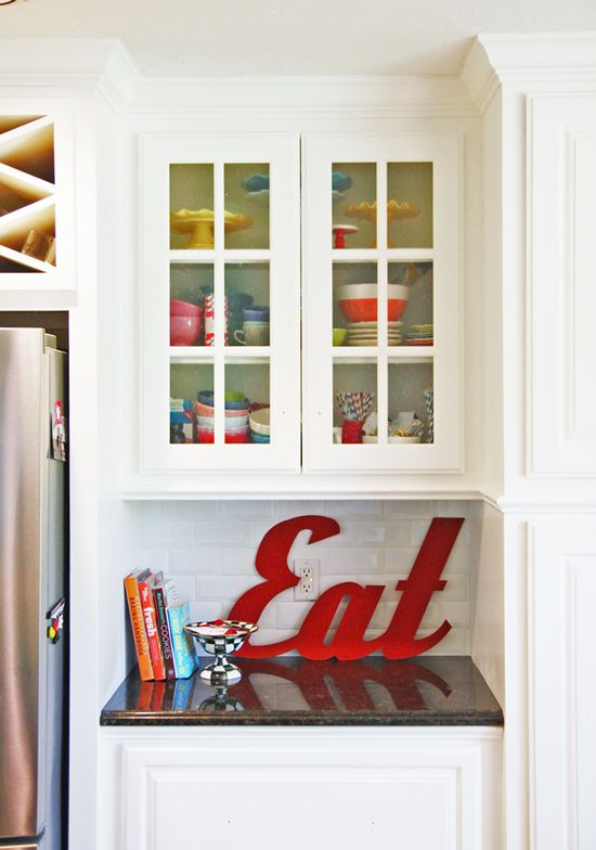 Kitchen decor. Love the typography!