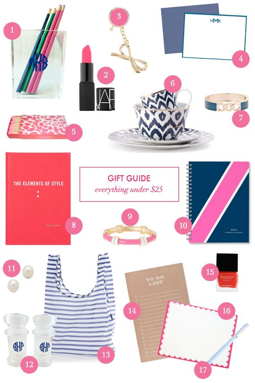 Gift guide: everything under $25!