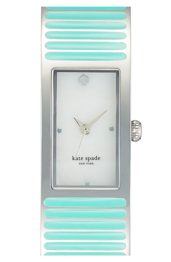 Aqua watch #katespade I just love this color so much!