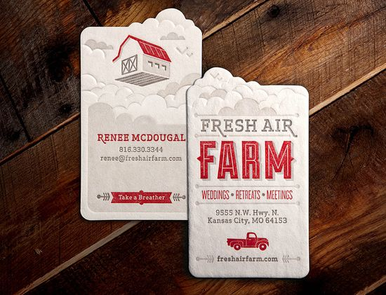 Fresh Air Farm Business Card by Whiskey Design, via Flickr #design