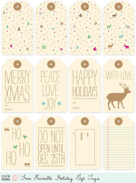 Free gift tag printable