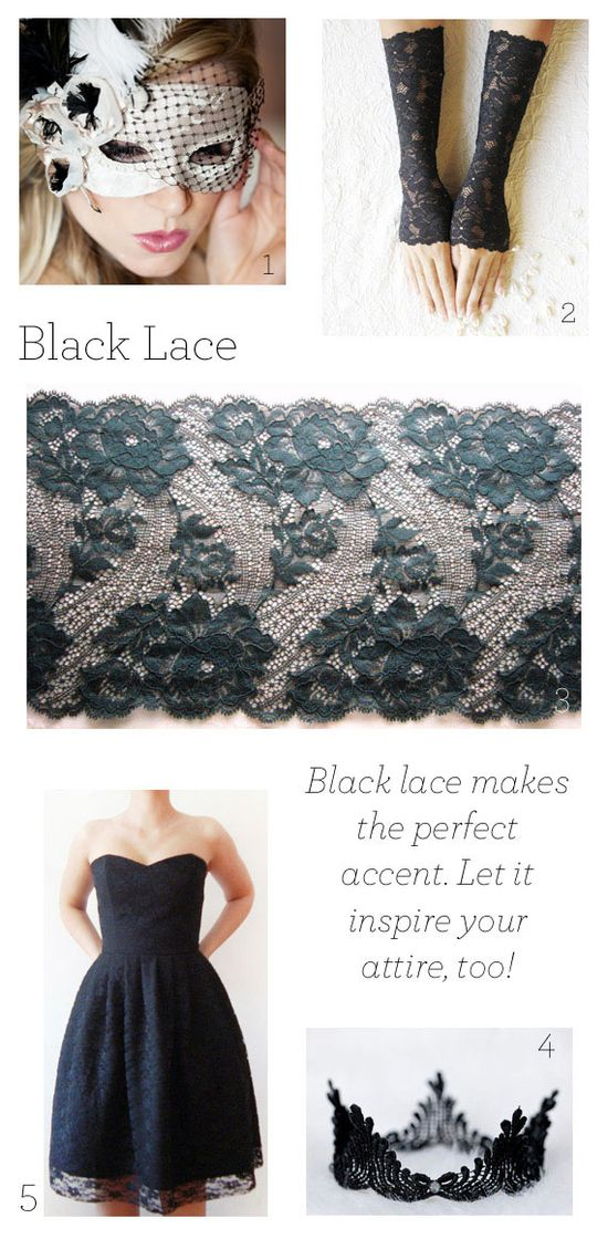 Black lace: a Halloween must.