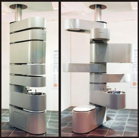 """vertical """"vertebrae"""" bathroom..."""
