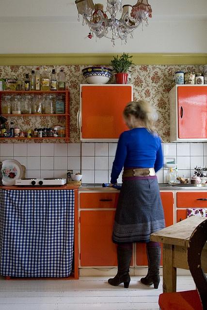 Living as an interior stylist, detail kitchen