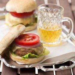 Mozzarella stuffed burgers