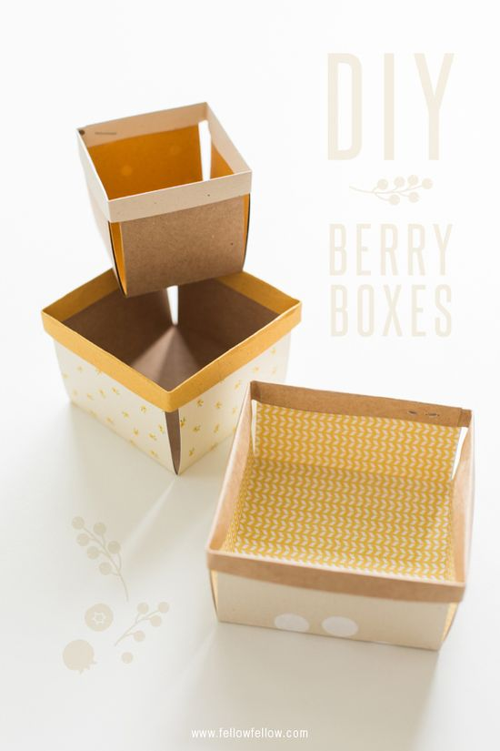DIY Berry Boxes
