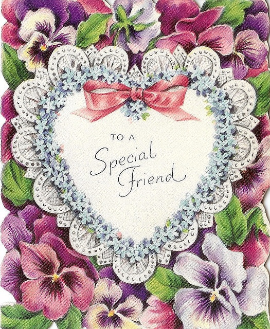 Vintage Friend  Card