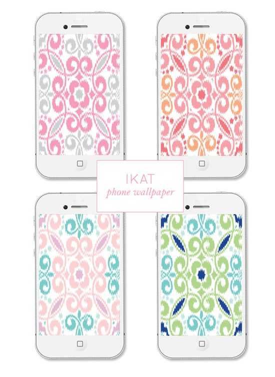 Ikat Phone Wallpaper