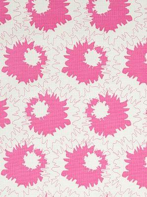 Schumacher Fabrics Sally-Bubblegum $129.50 price per yard #interiors #decor #pink #BCA