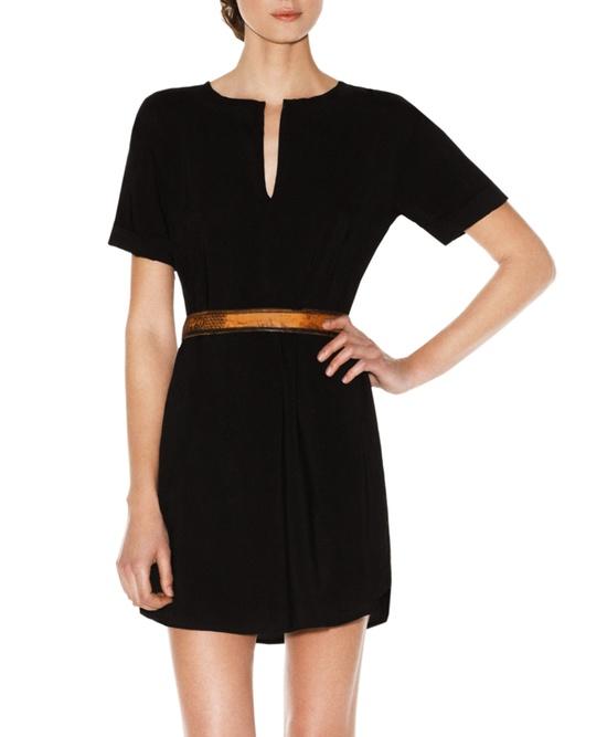 Belted Black Dress.
