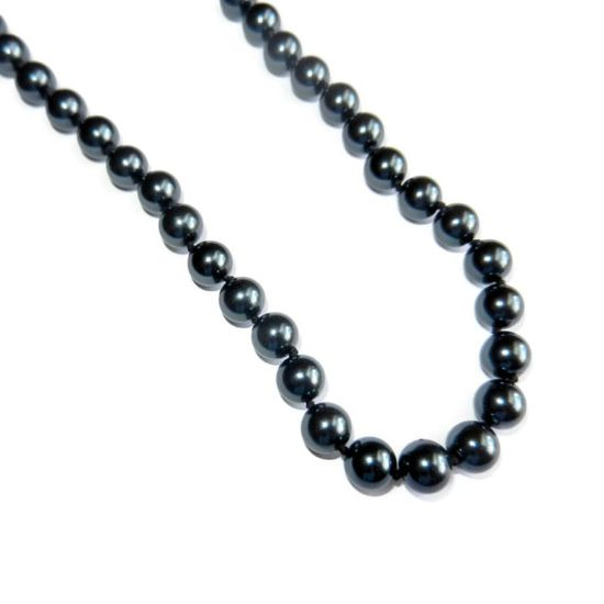 Hand Knotted Black Pearl Necklace by CloudNineDesignz on Etsy, $45.00