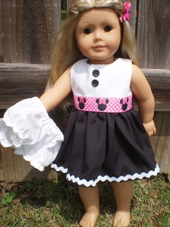 minnie mouse dress for AG doll