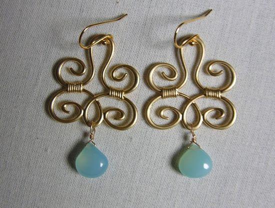 Wire earrings!