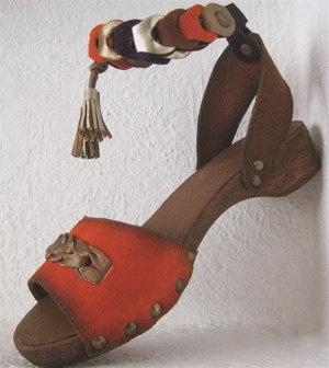 Flat Clog Shoe with Tassels - Karen Kell #shoes
