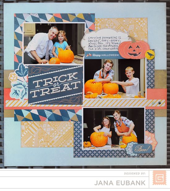 #halloween #scrapbook #layout