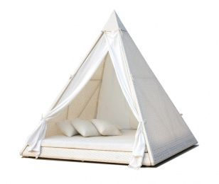 Guest bedroom tent...for the beach house guest when the bedrooms run out...