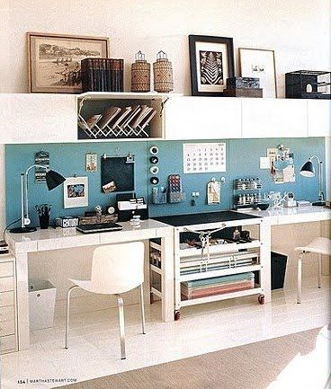 workspace for two. love this.  think this would work in mine. at least something similar?