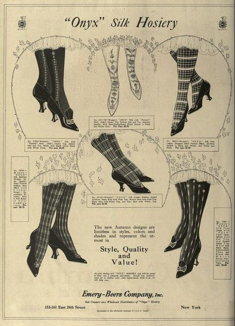 1916 Vintage Advert - Onyx Silk Hosiery vintage ephemera advertisement