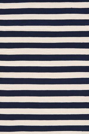 Navy outdoor rug for the porch