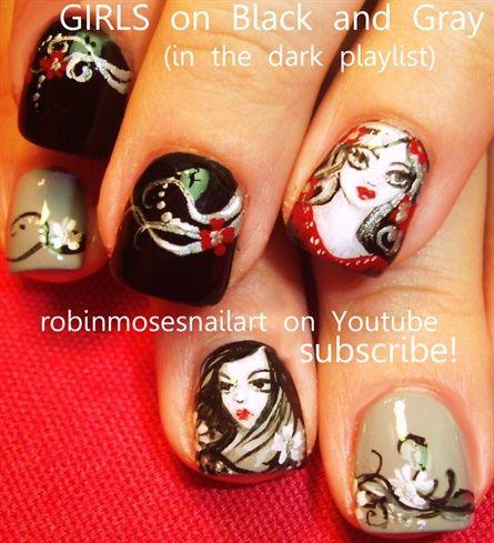 vamp girls halloween tutorial - Nail Art Gallery by NAILS Magazine