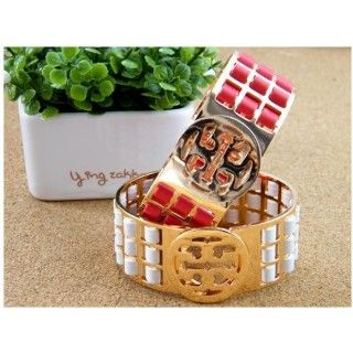 Colorful Rose Gold Plated Leather Wide Brand Bracelets