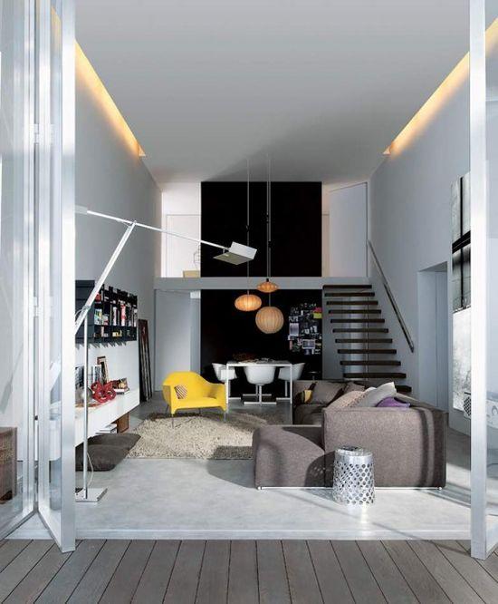 Modern interior design of an urban apartment #decoration #Home #interior design #urban apartment