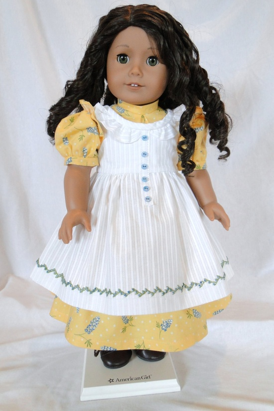 Prairie Ruffles for American girl doll. $75.00, via Etsy.