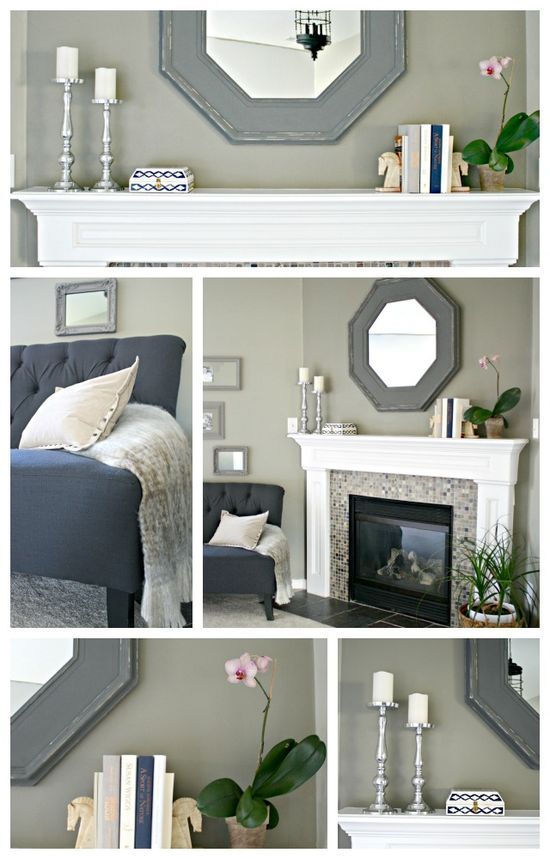 Making simple changes in the master bedroom with a few accessories and a new mirror -- it feels like a new room! @HomeGoods #homegoods #mantel #sponsored