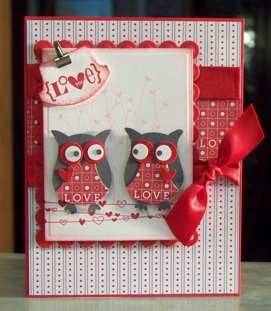 Handmade Valentine's Day Card using Stampin' Up by WhimsyArtCards