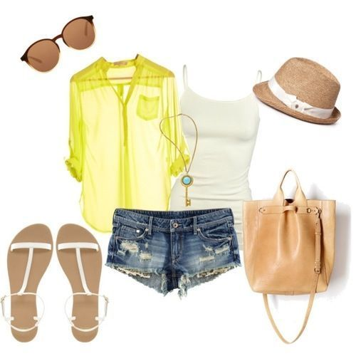 Summer clothes--green shirt #summer clothes style #cute summer outfits #summer outfits #tlc waterfalls #fashion for summer