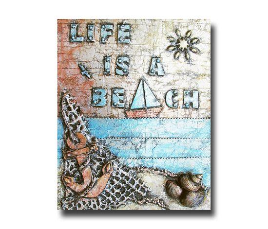 Life is a Beach ocean scene 8 x 10 reproduction by FischerFineArts, $18.00  #beach #nautical #artprint #art
