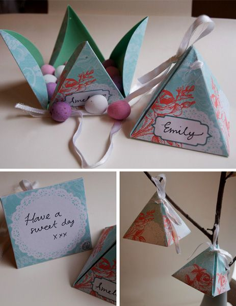 Such cute favor boxes!