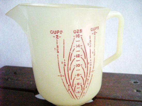 1960s Measuring Tupperware  Still have my mom's.