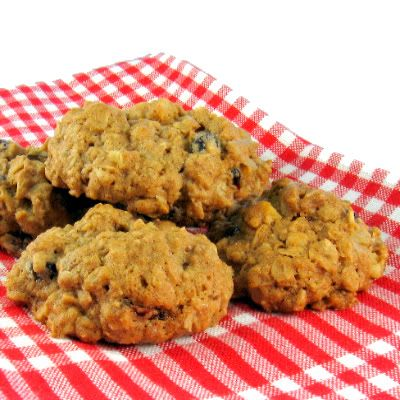 Rocks - Chunky Oatmeal Cookies with Walnuts and Cranberries