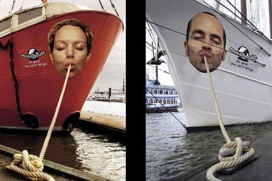 ship advertising, Pasta advertising