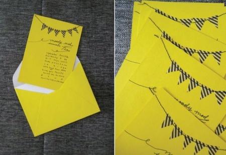 Wedding invitations bunting