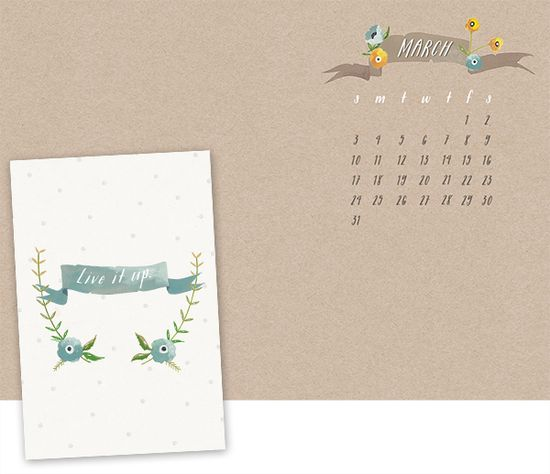 Oh the lovely things: March Desktop Calendar + Free iPhone & iPad Wallpapers