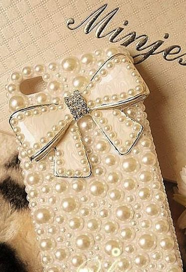 Pretty pearl and bowknot Iphone case