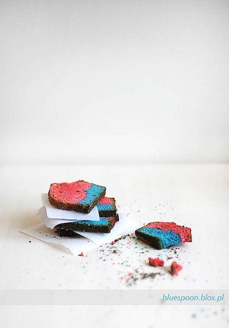 "Wonderfully fun ""Flickr"" Cake :) #cooking #food #beautiful #baking #dessert #cake #rainbow #Flickr #creative"