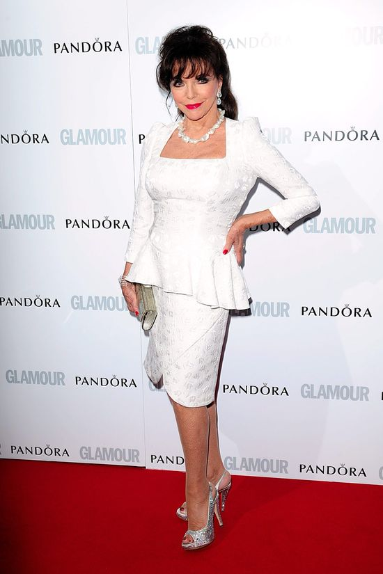 Joan Collins in white