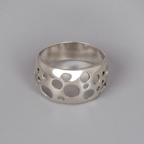 Sterling Silver Ring - Handmade Sterling Silver Jewelry - Bubbles. $70.00, via Etsy.