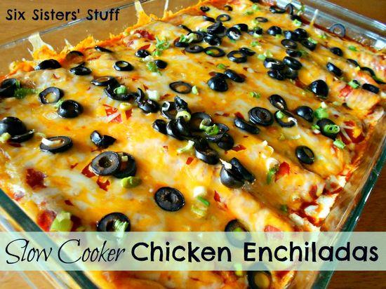 Six Sisters' Stuff: Slow Cooker Chicken Enchiladas