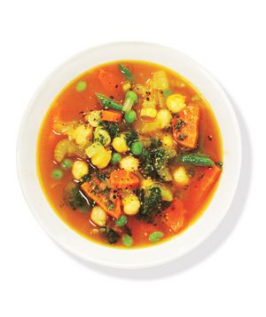 Chickpea, Vegetable, and Pesto Soup Recipe