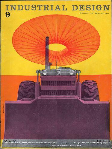 Industrial Design magazine September 1957, cover design by   Mathilde Lourie.