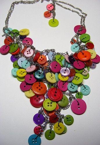 Rainbow button jewelry!